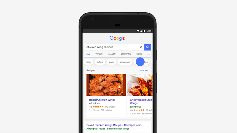 Google Search App S Revamped Carousel Ui For Recipes Now Rolling Out